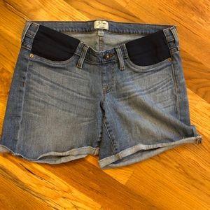 JCrew Maternity Jean Shorts